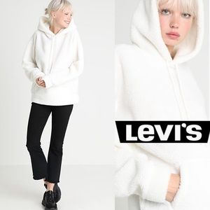 NWT HTF Levi's UK Sherpa Pullover Hoodie